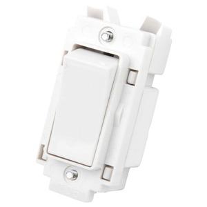Rockergrid 2-Pole 20A Grid Switch White
