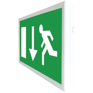 Slim LED maintained emergency exit box