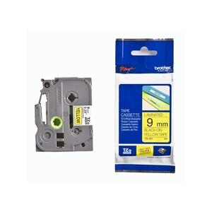 TZe Adhesive Laminated Labelling Tape 9mm Black/Yellow