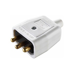 10A Work Power 3-Pin In-Line Connector White