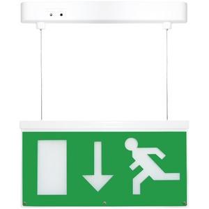 LED emergency hanging exit sign light