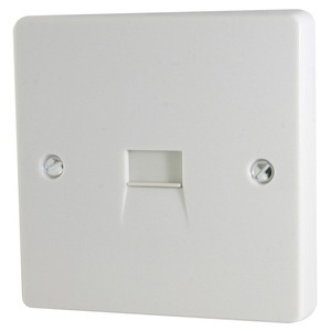 Capital 1-Gang Telephone Master Socket