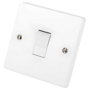 Capital 1-Gang 10A Intermediate Plate Switch