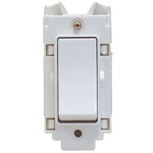 Rockergrid 20A Intermediate Grid Switch White