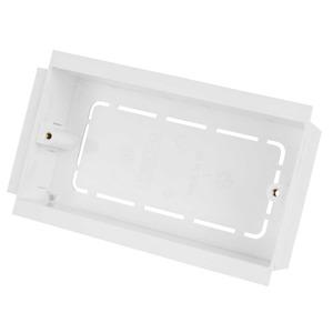 2-Gang Socket Mounting Box 35mm White