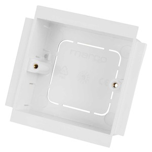 1-Gang Socket Mounting Box 25mm White